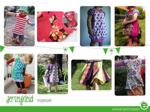 Jerseykleid für kleine Mädchen nähen: Designbeispiele