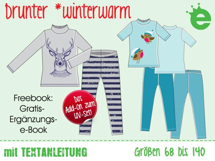 Schnittmuster Winter-Unterwäsche, Skiwäsche für kinder