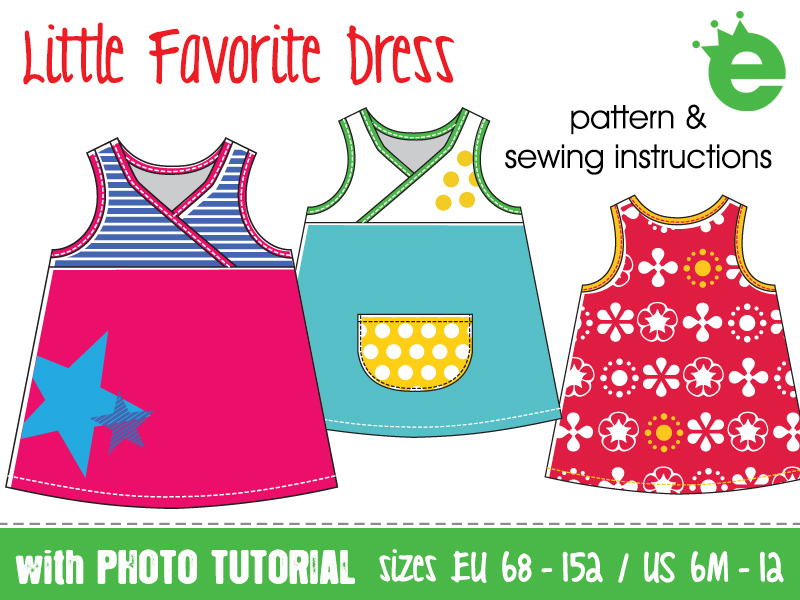 sewing pattern & tutorial: simple dress for girls cotton print at home