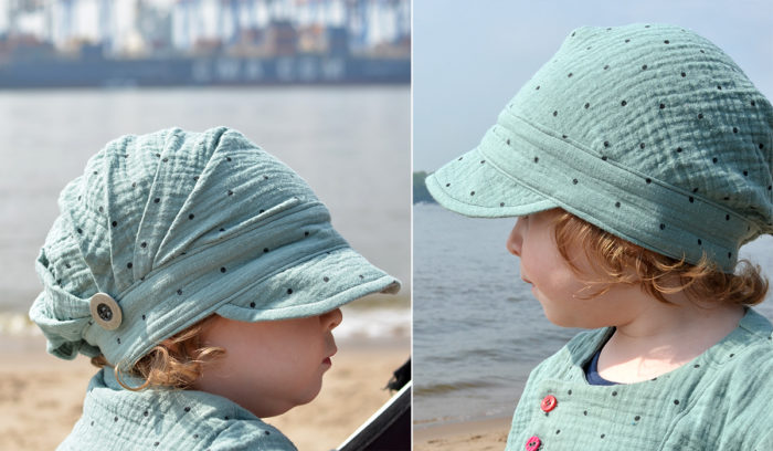 Aus Musselin: Falten-Sommermütze für Kleinkinder