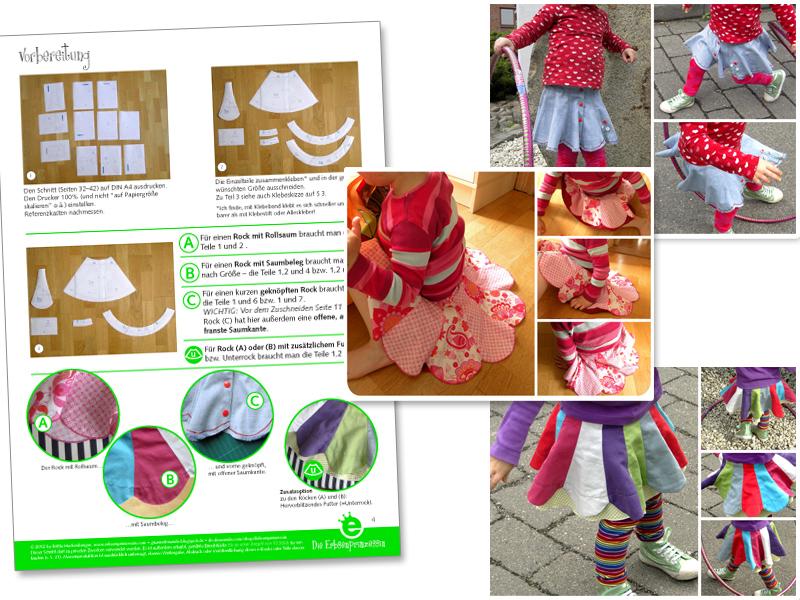Foto-Nähanleitung Blumenrock für Kinder