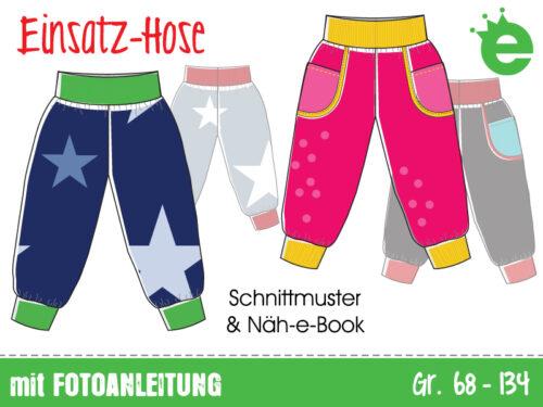 Einsatz-Hose: Bündchenhose für Kinder, Schnittmuster und Näh-e-Book
