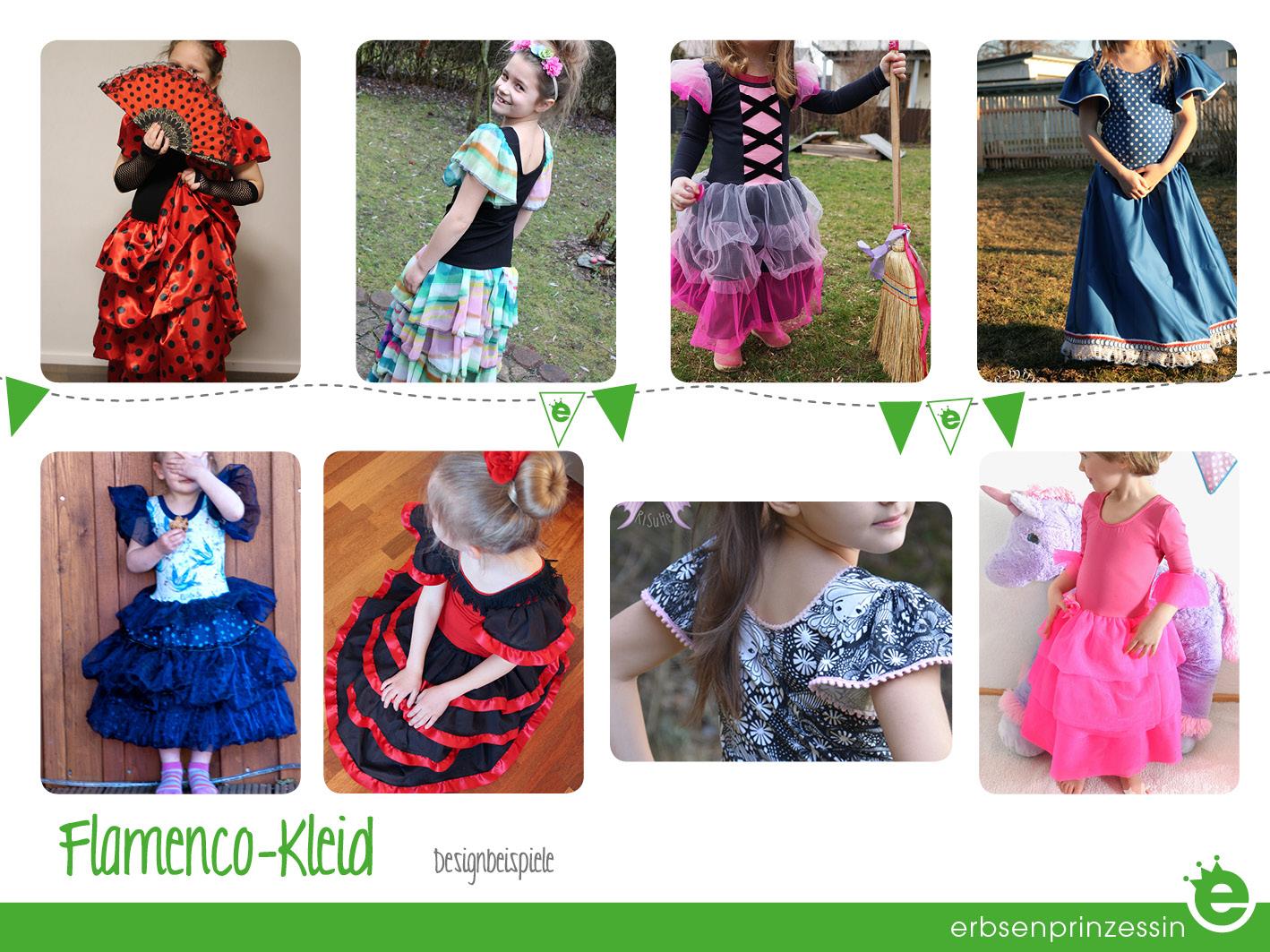 Designbeispiele: Flamencokleid für Kinder selber nähen