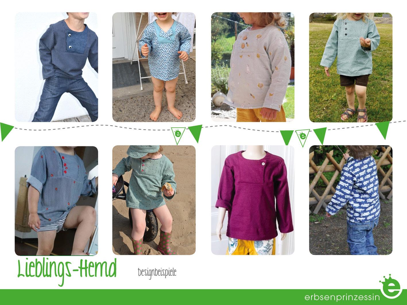 Kinderhemd nähen: Designbeispiele aus Baumwolle oder Musselin