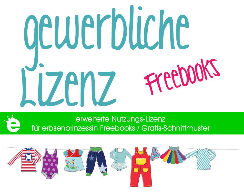 gewerbliche Lizenz für erbsenprinzessin näh-Freebooks / Gratis-Schnittmuster