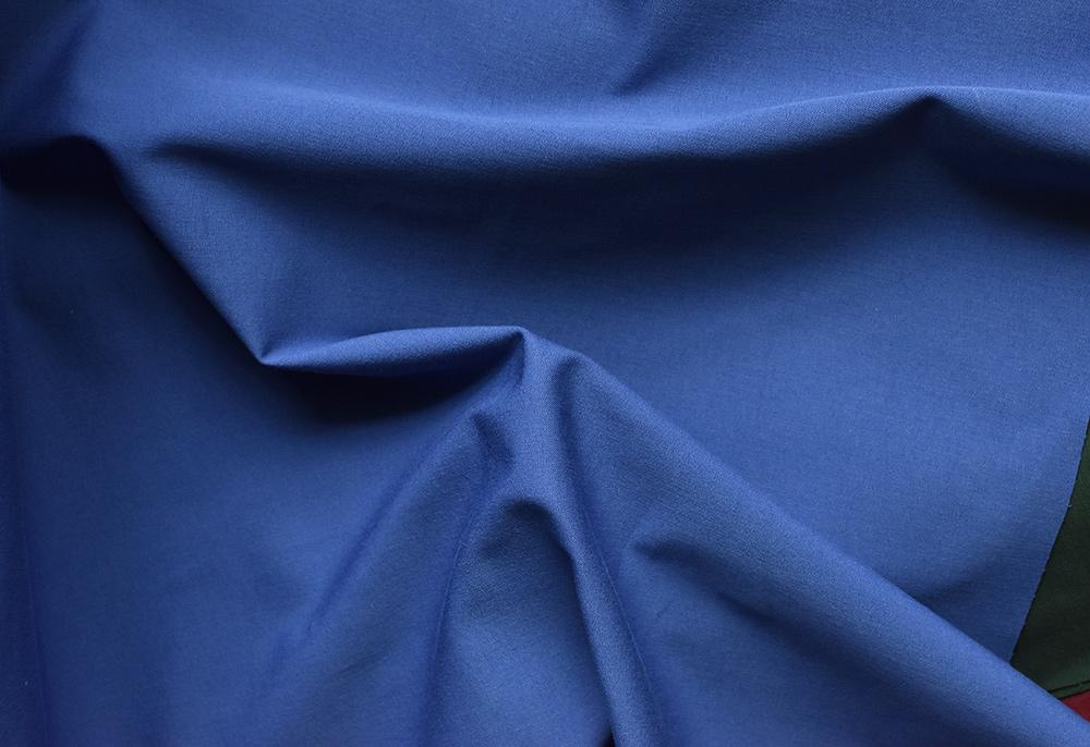 blauer Stretchköper, bi-elastisch, Hosenstoff für reithosen