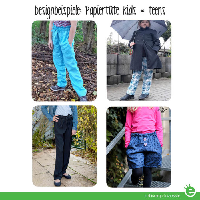 Papiertüte: Paperbag-Hose für kids & teens nähen