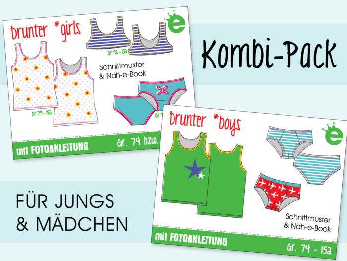 Kombi ebook Unterwäsche Kinder Nähanleitung