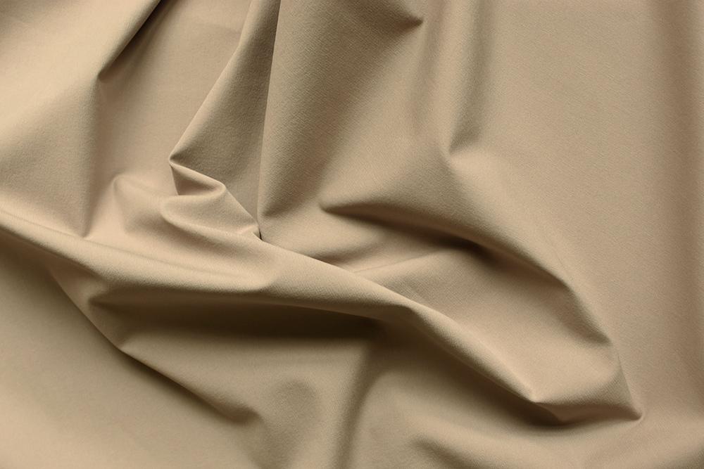 Reithosenstoff in graubraun, stretchig, bi-elastisch